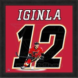Jarome Iginla, Flames photographic representation of the player's jersey Framed Memorabilia