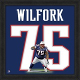 Vince Wilfork, Patriots representation of the player's jersey Framed Memorabilia