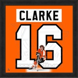 NHL Bobby Clarke, Flyers photographic representation of the player's jersey Framed Memorabilia