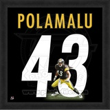 Troy Polamalu, Steelers photographic representation of the player's jersey Framed Memorabilia