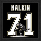 Evgeni Malkin, Penguins representation of the player's jersey Framed Memorabilia