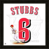 Drew Stubbs, Reds representation of the player's jersey Framed Memorabilia