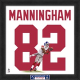 Limited Edition: Mario Manningham, Giants representation of the player's jersey Framed Memorabilia