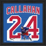 Ryan Callahan, Rangers photographic representation of the player's jersey Framed Memorabilia