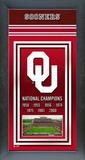Oklahoma Sooners Framed Championship Banner Framed Memorabilia