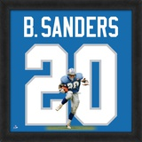 Barry Sanders, Lions photographic representation of the player's jersey Framed Memorabilia