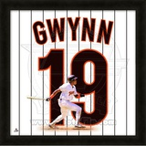 Tony Gwynn, Padres representation of the player&#39;s jersey Framed Memorabilia