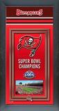 Tampa Bay Buccaneers Framed Championship Banner Framed Memorabilia