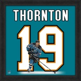 Joe Thornton, Sharks representation of the player's jersey Framed Memorabilia