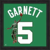 Kevin Garnett, Celtics photographic representation of the player's jersey Framed Memorabilia