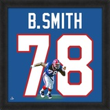 Bruce Smith, Bills representation of the player's jersey Framed Memorabilia