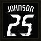 Sean Johnson, Fire representation of the player&#39;s jersey Framed Memorabilia