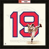 Bob Feller, Indians representation of the player's jersey Framed Memorabilia