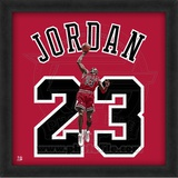 Michael Jordan, Bulls photographic representation of the player's jersey Framed Memorabilia