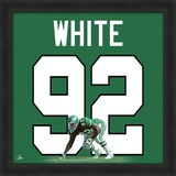 Reggie White, Eagles photographic representation of the player&#39;s jersey Framed Memorabilia
