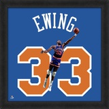 Patrick Ewing, Knicks  Representation of the player's jersey Framed Memorabilia