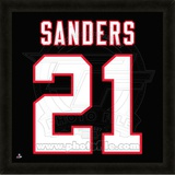 Deion Sanders, Falcons representation of the player's jersey Framed Memorabilia