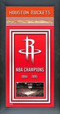 Houston Rockets Framed Championship Banner Framed Memorabilia