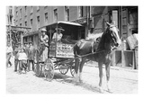 Horse Drawn Women's Suffrage Cart on its Way to Boston Posters