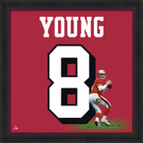 Steve Young, 49ers representation of the player's jersey Framed Memorabilia