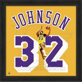 Magic Johnson, Lakers photographic representation of the player's jersey Framed Memorabilia