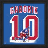 Marian Gaborik, Rangers representation of the player's jersey Framed Memorabilia