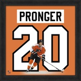 Chris Pronger, Flyers representation of the player's jersey Framed Memorabilia