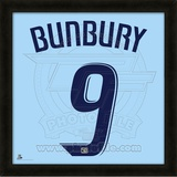 Teal Bunbury, Sporting Kansas City representation of the player's jersey Framed Memorabilia