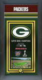 Green Bay Packers Framed Championship Banner Framed Memorabilia