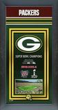 Green Bay Packers Framed Championship Banner Framed Memorabilia