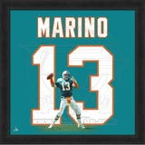 Dan Marino, Dolphins photographic representation of the player's jersey Framed Memorabilia