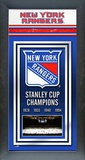 New York Rangers Framed Championship Banner Framed Memorabilia