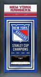 New York Rangers Framed Championship Banner Framed Memorabilia