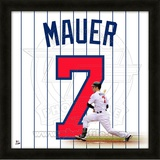 Joe Mauer, Twins representation of the player's jersey Framed Memorabilia