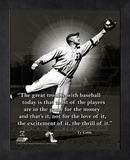 Ty Cobb, Detroit Tigers, ProQuote Framed Memorabilia