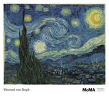 The Starry Night Prints by Vincent van Gogh