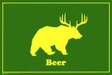 Øl, på engelsk Plakat