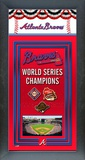 Atlanta Braves Framed Team Championship Banner Framed Memorabilia