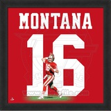Joe Montana, 49ers photographic representation of the player's jersey Framed Memorabilia