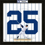 Mark Teixeira, Yankees representation of the player's jersey Framed Memorabilia