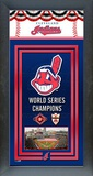 Cleveland Indians Framed Championship Banner Framed Memorabilia