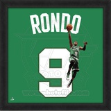 Rajon Rondo, Celtics photographic representation of the player's jersey Framed Memorabilia