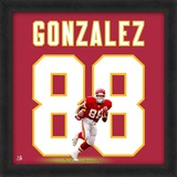 Tony Gonzalez, Chiefs representation of the player's jersey Framed Memorabilia