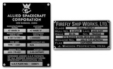 Firefly Builder's Plaques Metalized Sticker Stickers