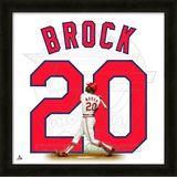 Lou Brock, Cardinals representation of the player's jersey Framed Memorabilia