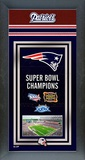 New England Patriots Framed Championship Banner Framed Memorabilia