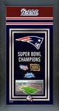 New England Patriots Framed Championship Banner Framed Memorabilia