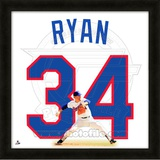 Nolan Ryan, Rangers representation of the player&#39;s jersey Framed Memorabilia