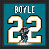 Dan Boyle, Sharks representation of the player's jersey Framed Memorabilia