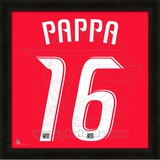 Marco Pappa, Fire representation of the player&#39;s jersey Framed Memorabilia